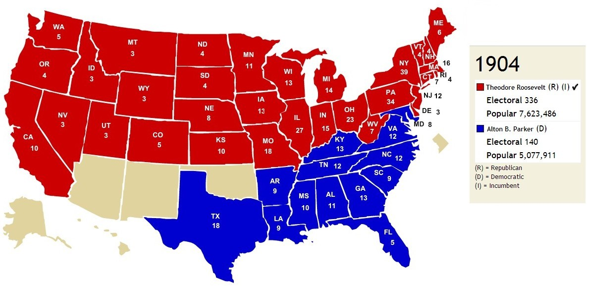 Red States and Blue States: It Was Not Always Thus – jsphfrtz.com