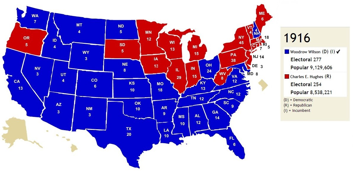 Red States And Blue States It Was Not Always Thus Jsphfrtz Com