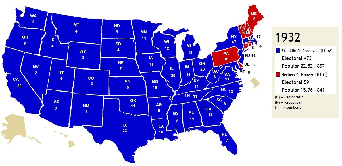 Red States And Blue States It Was Not Always Thus