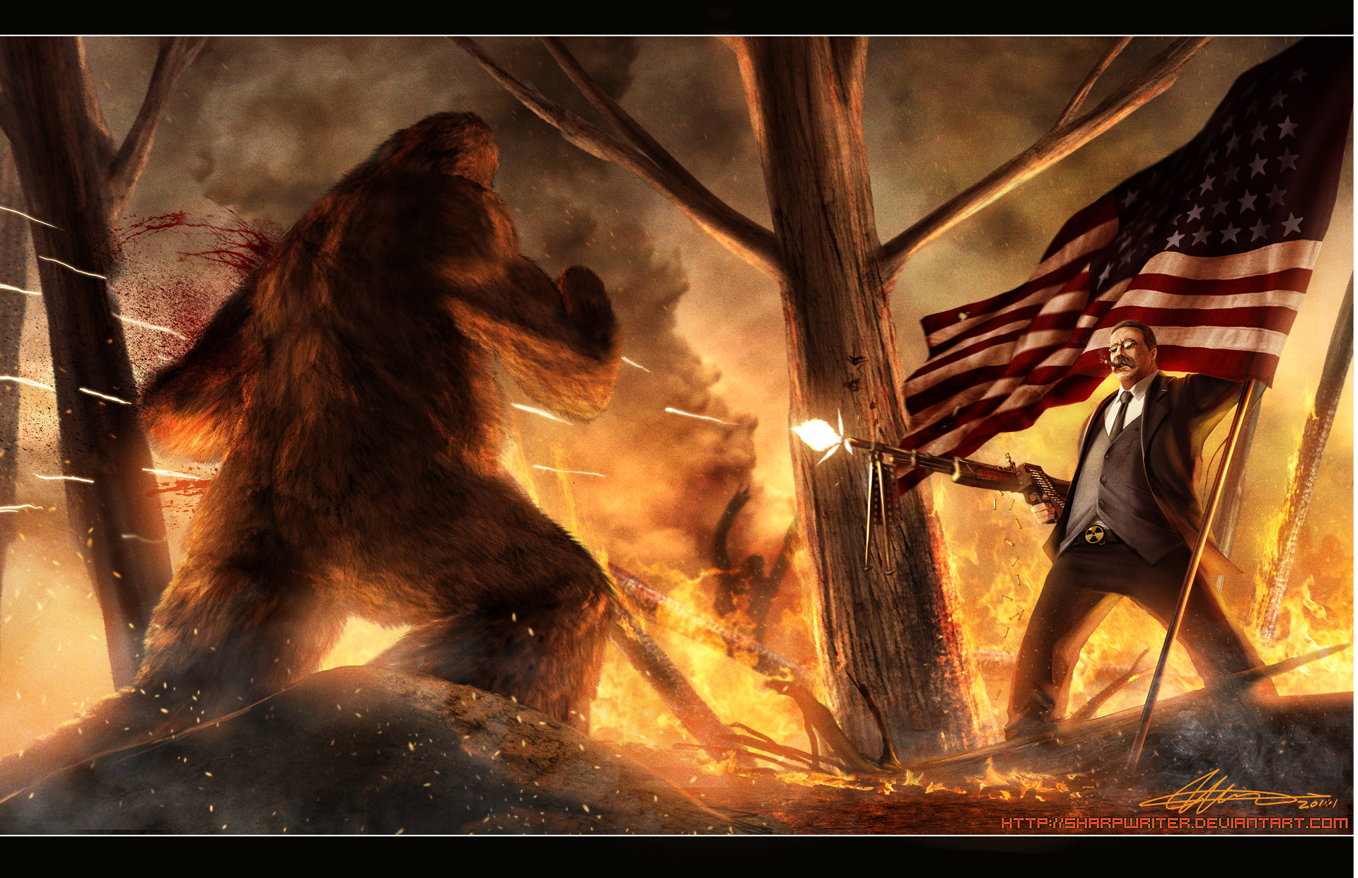 Teddy Roosevelt vs Bear