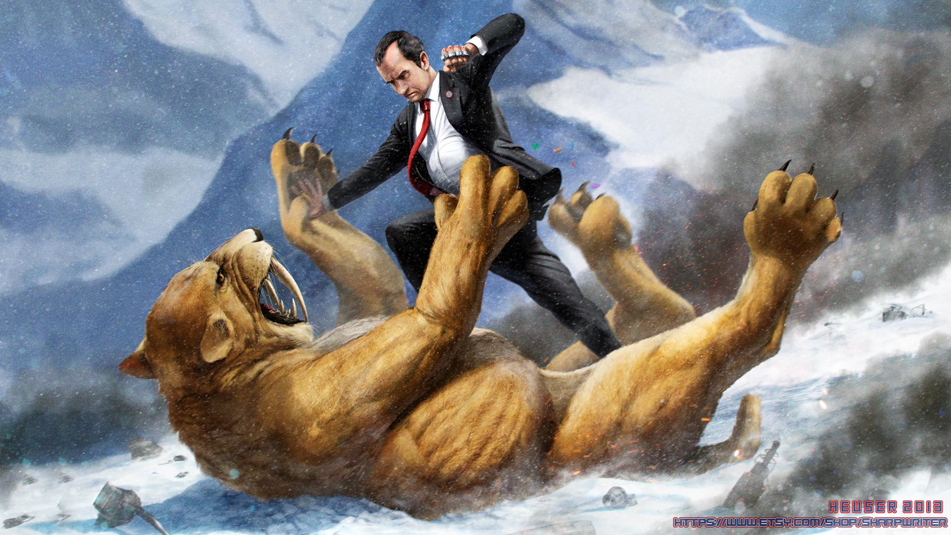 Nixon vs Sabertooth Tiger